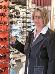 Ute Hanisch; Augenoptikerin; Geschäftsführerin;  Fachberaterin für Brillen, Kontaktlinsen, Uhren und Schmuck