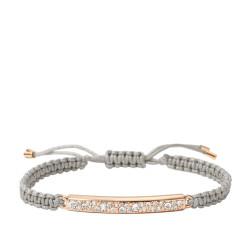 Aus der Winter Kollektion ein wunderschönes Armband aus einer tollen Kombination aus Stoff und Edelstahl; Typischer Vintage-Look von Fossil