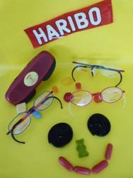 Haribo Kinderbrillen, extrem flexibel und sehr lange haltbar, im Gegensatz zu den Süssigkeiten...