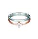 Esprit Ring, 925 Silber mit rosè und Zirkonia